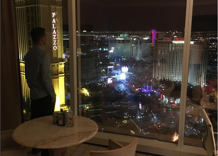Looking out over Las Vegas
